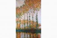 27312 Monet Pappeln am Ufer der Epte im Herbst-150