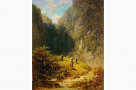 33749 Spitzweg Heuernte im Hochgebirge-158