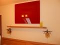Heat4All Infrapanel - červené dekoračné sklo (spálňa) - byt Liptovský Hrádok