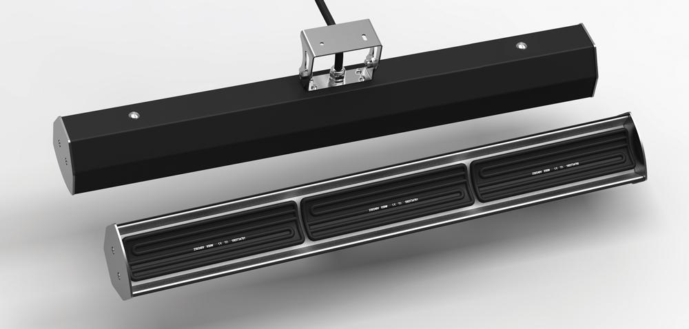 Vysokoteplotný infražiarič 1950W