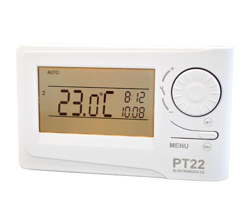 PT 22 - Izbový zásuvkový termostat s LCD displejom