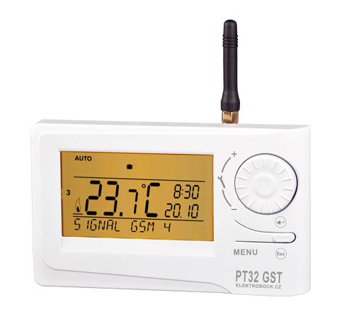 PT 32 GST  -  Izbový zásuvkový termostat s GSM modulom